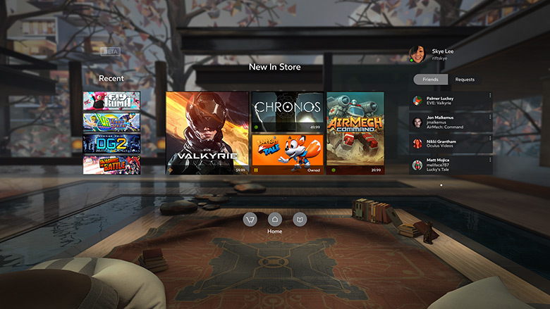 Despite Being Developed By The Same Company, Oculus Home Would Look  Different Depending On The Headset Being Used. The Popular Content Store Is  Used As A ...