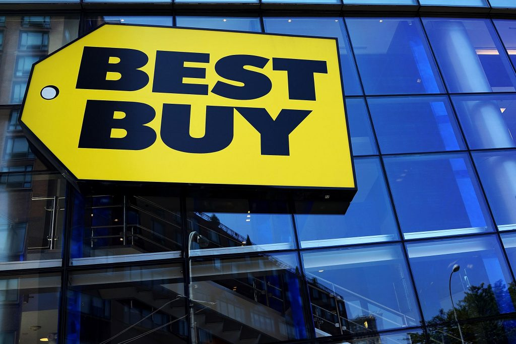 FILE - JANUARY 16: According to reports January 16, 2014, Best Buy announced a disappointing holiday shopping sales season with a decline of 2 percent. NEW YORK, NY - AUGUST 20: A Best Buy store is viewed on August 20, 2013 in New York City. Best Buy, the electronics and entertainment retailer, eported its second-quarter profit to jump to $266 million, up from $12 million last year. After a period of struggling, Best Buy instituted cost cutting measures while remaking stores to better compete with discounters and online retailers. (Photo by Spencer Platt/Getty Images)